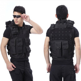 Wholesale Tactical Neck Armor - Outdoor Camouflage Hunting Tactical Vest Wargame Body Molle Armor Hunting Vest CS Outdoor Jungle Equipment Free Shipping