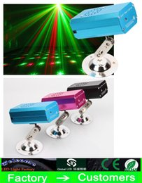 Wholesale Laser Stage Quality - 2016 new popular super quality Mini Stage Laser Lighting Red and Green Emitting Lights Auto modes Voice-activated for Disco Stage Party