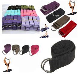 Wholesale Professional Rope - Promotion Retail Cotton Yoga Strap Stretch Belt Gym Exercise Webbing Fitness Workout Rope Betls Straps Professional yoga stretch belt