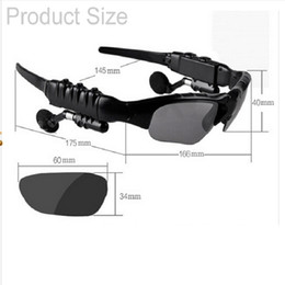 Wholesale Earphone Glasses - Fashion Riding Eyes Glasses Sports Stereo Wireless Bluetooth 4.0 Headsets Telephone Polarized Driving Sunglasses Earphones Headsets Gifts