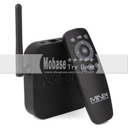 Wholesale Sd Card Xbmc - MINIX NEO X7 mini Android TV Box Quad Core Mini PC RK3188 1.6GHz 2G 8G WiFi HDMI USB RJ45 SD Card Optical XBMC