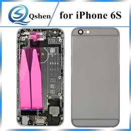 Wholesale Iphone Middle Frame Assembly - High Quality A+++ 4.7 inch Complete Phone Housing For iphone 6s Back Housing Back Battery Door Cover Mid Middle Frame Parts Assembly