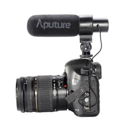 Videocámara de micrófono online-Aputure V-Mic D1 Condensador direccional Shotgun en la cámara Micrófono para Canon Nikon Sony DSLR DV Videocámara