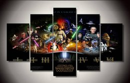 Wholesale Group Canvas Painting Framed - Framed Printed star wars Movie Poster Group Painting children's room decor print poster picture canvas Free shipping F 1306