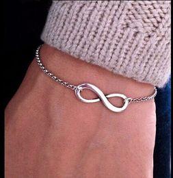 Wholesale Cheap Bijoux Wholesale - One Direction Cheap Girl Jewelry Pulseira Digital Infinity Bracelets For Women Wholesale Bangle Wedding Bijoux Pulseras Link Chain Drop Ship