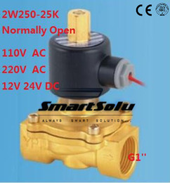 "Wholesale 24v Oil Solenoid - N O 5pcs lot Fedex Free Shipping Normally G 1"" Electric Solenoid Valve Water Air Gas Oil,12v 24v 110v 220v dc ac"