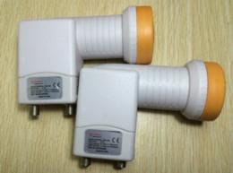Wholesale band lnb - Best Signal digital HD Universal KU Band TWIN LNB waterproof ku lnb High Gain 0.1 dB guaranteed one year Satellite Dish LNB