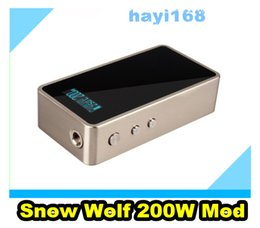 Lobo de neve mini on-line-Genuine Lobo Da Neve 200 W Snowwolf 200 w TC MOD mod Controle de Temperatura vs SX Mini Classe M ipv4 zero mod vt bala rda morpheus