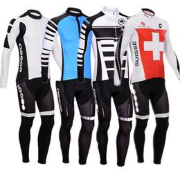Wholesale Cycling Sleeves Winter Wear - 2016 New winter Fleece cycling jersey long sleeve Cycling clothing wear & bib Pants Set winter thermal fleece cycling clothing