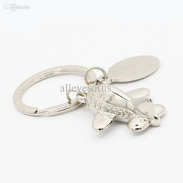 Wholesale Wholesale Airplane Keychains - Wholesale-Brand Metal Keychains For The Keys Airplane Men's Keychains Personalized key Chains For Unisex YQ0030