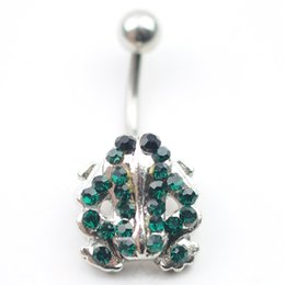 Wholesale Crystal Belly Rings Wholesale - D0493 frog navel belly ring ,piercing body jewlery Belly Button Ring , Fixing BELLY BAR(10PCS LOT) JFC-5464