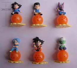 Wholesale Dragon Ball Z Mini Toys - Mini dragon ball q version Z Action Figures PVC Toys goku assembly toys Z Son Gokou Gohan Mini PVC Action Figures 4.8 cm free shipping