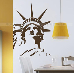 Wholesale Wall Poster New York - Statue of Liberty wall sticker New York wall decal Vinyl stickers carved Art vinilos wallpaper pegatina DIY home decor poster