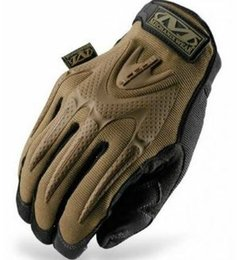 Wholesale Mechanix S - Wholesale-Free Shipping Mechanix big M print Full finger gloves Mechanic Gloves Safety Gloves M-Pact Outdoor Sport Gloves 4 color