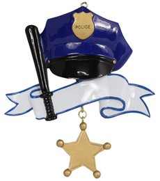 Wholesale Christmas Gift Specials - Maxora Police Personalized Polyresin Gloss Hand Painting Christmas Occupation Tree Ornaments As Holiday Gifts Thanks To Special Person