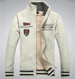 Wholesale Men S Cashmere Cardigan Sweaters - New men's winter wool sweater, cardigan warm thick velvet jacket.(M216)