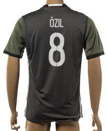 Wholesale Cheap New Season Soccer Jerseys - Thai Quality Customized 2015-16 New season men German European Cup 8 OZIL Soccer Jerseys Shirts,Discount Cheap top 1 NEUER 13 MULLER Wear