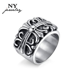 Wholesale Rings Design For Mens - Brand Design Retro Large Ring for Men Unique Fashion Jewelry Accessory Stainless Steel Mens Rings