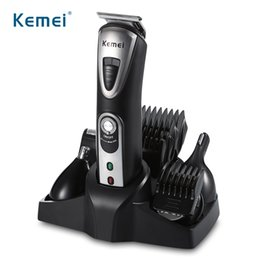 Wholesale Men Shaver Set - Kemei KM-1617 Multifunction 5 in 1 Rechargeable Shaver Men Styling Tool Set with Combs Nose Beard Hair Trimmer