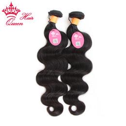 longitud de la mezcla de pelo virgen indio Rebajas Queen Hair Virgin Indian Body wave 2 lotes de longitud mixta Sin procesar Virgin Human Hair wave Indian body extensiones de cabello