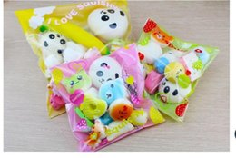 Wholesale Best Seller Bags - Best Sellers Bread and sweet doughnut package PU slow rebound cake bread Key Bag Cell Phone Straps Charm 10pcs