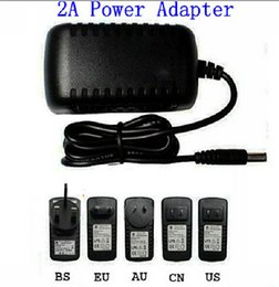 Wholesale Adapter Uk 2a 12v - x20pcs AC 100-240V to DC 12V 2A 5.5 x 2.5 mm EU US UK AU Plug DC Power adapter charger Power Supply Adapter 3528 transformer adapter