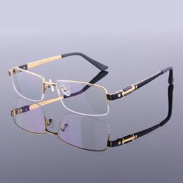 Wholesale Pure Titanium Eyeglasses - New Style Men Pure Titanium Eyeglasses Frames Half Frame Spectacle Frames M8001 High Quality Optical Frame Eyewear Glasses