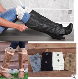 Wholesale Wholesale Boots Online - 2016 Online payment socks   Europe knit openwork piles of boots   short paragraph button wool jacket Leggings   Ladies Socks