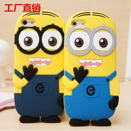 Wholesale Despicable Silicon - Fashional cute cartoon model silicon material Despicable Me Yellow Cover for iphone Case for iphone 6s iphone 6 plus