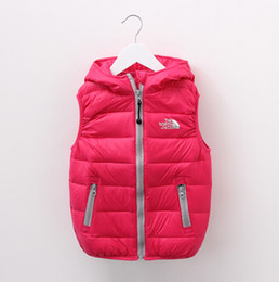 Wholesale Wholesale Winter Jacket Sale - Hot Sale Winter Children wadded jacket Cotton Jacket boy Warm Outerwear Children Vest Coat with hat 5P L
