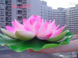 2019 acqua fluttuante artificiale di loto 40 cm di diametro bellissimo fiore di loto artificiale fiori d'acqua galleggianti per l'ornamento di Natale decorazione della festa nuziale forniture acqua fluttuante artificiale di loto economici