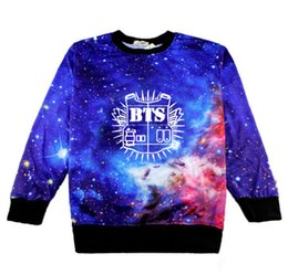 Wholesale Woman Superman Hoodie - 2016 JUNG KOOK JIMIN JIN Hoodies For Women SBS Cotton Pullovers KPOP Jacket Sweatshirt K-pop BTS Clothes Cropped Shirt Superman