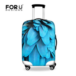 Wholesale Protective Suitcase Covers - FORUDESIGNS Fashion Printing Luggage Protective Cover to 18-30 Travel Suitcase,Dust Cover Elastic Waterproof Accessories Covers L13