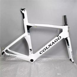 bicicleta de fibra de carbono preta fosca Desconto 2017 cor pode escolha colnago conceito de bicicleta de estrada quadro de carbono de fibra de carbono completo quadro de bicicleta de estrada 48/50/52/54/56 cm T1000 quadros de carbono CO1