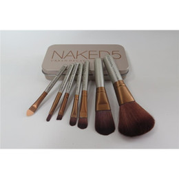 Wholesale Wholesale Full Makeup Brushes Set - N5 Makeup Brush kit Sets Makeup Brushes Tools Sets 7 pcs Make Up Brushes Set Professional Portable Full Cosmetic Brush Eyeshadow Lip Brush