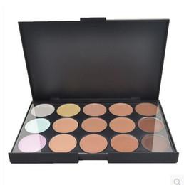 Wholesale Cheap Full Set Makeup - Cheap!!! 1000pcs Lady women Hot 15 color Concealer Camouflage Neutral Makeup Palette set Christmas Gift