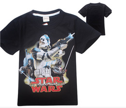 Wholesale Children Clothes Design For Boys - HOT!! 2016cartoon baby boys t shirts star wars children t-shirts kids summer tops for 3-12 Years designs Teen clothes girls tees