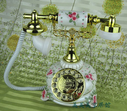 Wholesale Vintage Rotary Dial Telephones - New arrival fashion rustic old fashioned rotary dial swivel plate vintage antique telephone