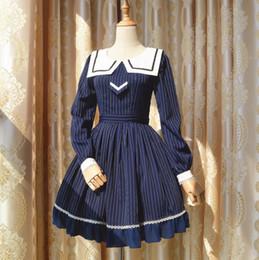 63d76f127f05 maniche lunghe vestito blu lolita Sconti Vestito da marinaio del marinaio del  blu marino della ragazza