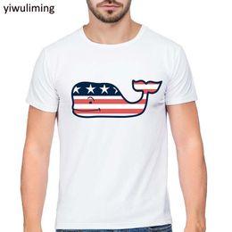 Wholesale Silver Vine - 2017 Fashion vineyard vines Design Men T shirt Short Sleeve t-shirt Hipster Cartoon Printed tees Cool Tops