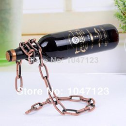 Wholesale Cooler Racks - New Cool Magic Chain Wine Holder Wine Rack Bottle Holder Free Shipping