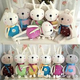 Wholesale Metoo Phone - Wholesale-1 PCS Mixed Color Kawaii 12CM Length Metoo Rabbit Plush Stuffed TOY DOLL Cellphone Strap Pendant Mobile Phone Charm Plush Toy