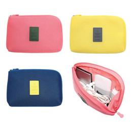 Wholesale Digital Silk Fabric - Wholesale- Digital Portable Storage Bag Case USB Cable Gadget Devices Earphone Pen Travel Cosmetic Insert Organizer System Kit