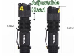 Wholesale Cree Led Torch Focus - Qualified 5 Colors Flash Light 300LM CREE Q5 LED Camping Flashlight Torch Adjustable Focus Zoom waterproof flashlights Lamp H4846 H9504