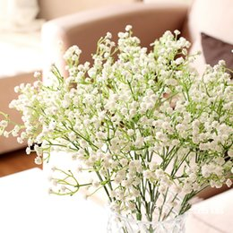 Wholesale Diy Wedding Prop - 2015 special offer wedding 12pcs lot glioma gypsophila artificial flowers props bride holding pu real touch display flower DIY