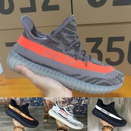 Wholesale Core Body - 2017 new Boost 350 V2 Core Black Solar Red (WITH BOX) SPly 350 Running Shoes Kanye West Sneakers For Men And Women