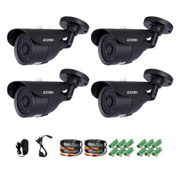 "Wholesale Surveillance Cameras Indoor Bullet - ZOSI Camera Kit 4x 800TVL HD 960H 1 3"" CMOS 42 IR Led Day Night 120ft Waterproof Outdoor Security Surveillance Bullet Camera CCTV"