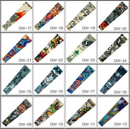 Wholesale Cycling Gear For Women - Fashion 121 Styles Women Men Compression Sports Arm Warmer Sleeve Tattoo Cuffs Protective Gear for Softball Baseball Cycling
