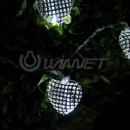 Wholesale Cheap Battery Operated Led Lights - Battery Operated 10 LED String Light Fairy Party White Hollow Heart Christmas LED String Cheap LED String