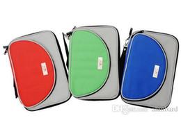 Wholesale Tennis Rackets Covers - Double fish T shape single tier set table tennis racket cover bag
